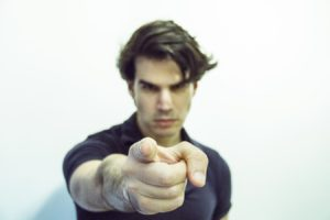Photo of man pointing finger