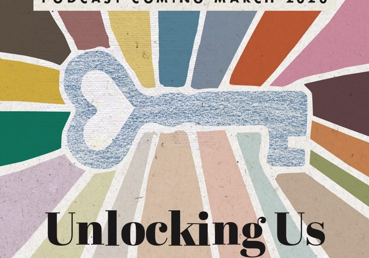 The podcast logo image for the Brene Brown Unlocking us podcast series.
